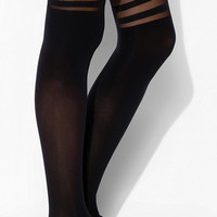 Striped Faux Thigh-High Tight - Urban Outfitters