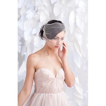 Tulle bandeau birdcage veil - ready to ship