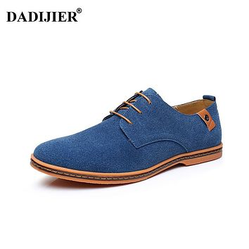 DADIJIER Men shoes New Fashion Suede Leather shoes Men Casual shoes oxfords for Spring Summer Dropshipping