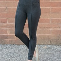 Lysse Faux Leather Inset Legging