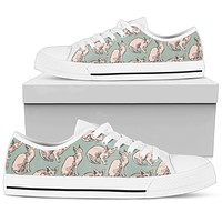 Sphynx  Pattern Low Top Shoes