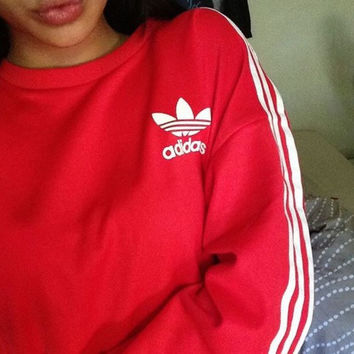 Adidas Fashion Print Pullover Tops Sweater Sweatshirts