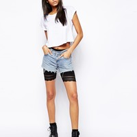 ASOS Legging Shorts with Lace Hem
