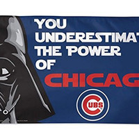 Chicago Cubs MLB Star Wars You Underestimate the Power 3 x 5 Ft Deluxe Flag
