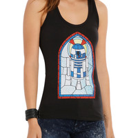 Star Wars R2-D2 Stained Glass Girls Tank Top