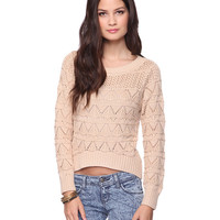 Open Triangle Knit Sweater