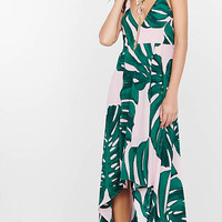 Palm Leaf Print Maxi Sundress from EXPRESS