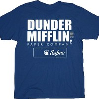 The Office Dunder Mifflin Paper Company Sabre Navy Adult T-shirt