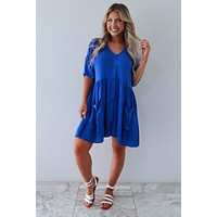REORDER: Along For The Ride Dress: Royal Blue