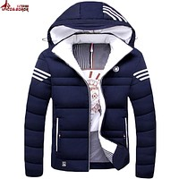UNCO&BOROR Winter jacket Men casual warm cotton down coat mens jackets and coats thicken outwear brand clothing Asian size M~5XL