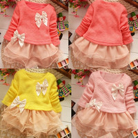 Toddlers Baby Girl Princess Lace Party Dress Kid Flower Tulle Dress clothes 1-5Y D_L = 1708619460