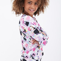 FOREVER 21 GIRLS Barbie Print Graphic Pullover (Kids) Pink/Multi