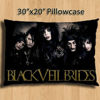 "Pillowcase BLACK VEIL BRIDES Bedding Pillow Case Cover Size 30"" x 20"" New Ideal Gift"