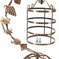 Bejeweled Display® Antique Birdcage Jewelry Tree Earring Holder Necklace Organizer Display in 2 Colors (Copper)