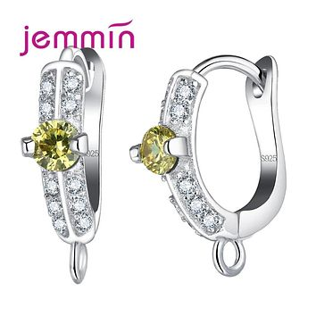 Jemmin New Arrival Unique Shape Earrings Accessories for Women DIY Jewelry Making Colorful Australian Crystal 925 Stamp Jewelry