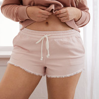 Aerie Denim Short, Light Pink