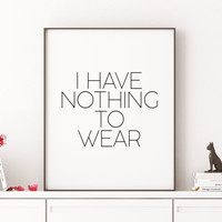 Fashion Poster Fashion wall art Fashion print Gift women Makeup Print Quote Print Fashion Quote Teen Room Fashionista Typographic print