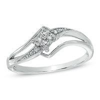 Cherished Promise Collection™ Diamond Accent Splendid Promise Ring in Sterling Silver - Size 6 - Jewelry Rings - Gordon's Jewelers