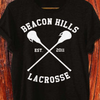 beacon hills lacrosse shirt stilinski shirt black grey and white color 2 side print area S-XXL size available