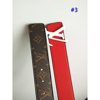 LV fashion casual belt for men and women hot selling patchwork printing belt #3