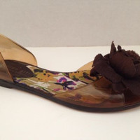 Madden Girl Shoes Womens Size 6 M Jelly Flats Brown 6M Gummie Amber Synthetic