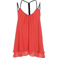 Pink backless strap swing top
