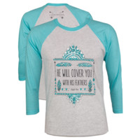 Southern Couture Lightheart Will Cover Raglan Long Sleeve T-Shirt
