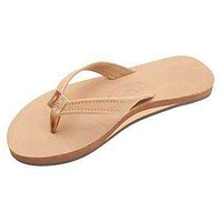 Women's Catalina Tapered Strap Premier Leather Sandal in Sierra Brown by Rainbow Sandals