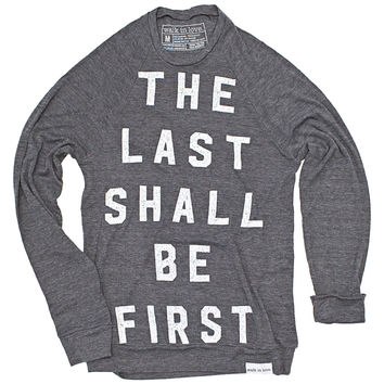 Last Shall Be First Gray Lightweight Sweater