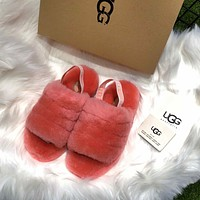 Ugg Women's Fluff Yeah Slide Red
