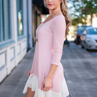 Free To Move Top, Light Pink