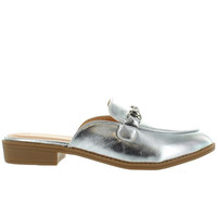 Wanted Cavallo - Silver Mule Loafer