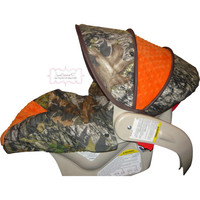 Camo with Orange Infant Car Seat Cover