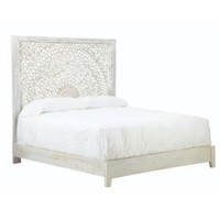 Home Decorators Collection Chennai White Wash King Platform Bed 9467810410 at The Home Depot - Mobile