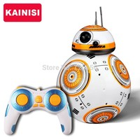17cm Star Wars RC 2.4G BB-8 Robot upgrade remote control BB8 robot intelligent with sound RC Ball kid gift boy toy
