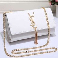 YSL Women Shopping Leather Metal Chain Crossbody Satchel Shoulder Bag Tagre™