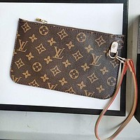 Louis Vuitton LV Fashionable Women Monogram Coin Bag Key Bag Zipper Wallet