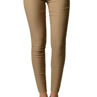 Khaki Colored Tight Jeggings