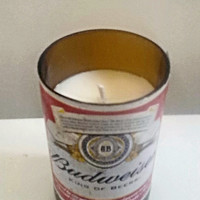 Budweiser Classic Beer Recycled Bottle 100% Natural Soy Candle
