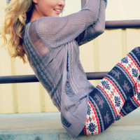 Heart Strings Tan Cable Knit Sweater