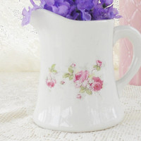 Antique Cottage Style Pitcher, French Country, Victorian, Tea Party, American China Co.