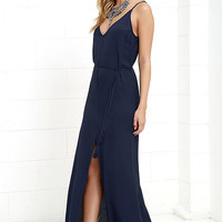 Fresh Air Navy Blue Maxi Dress
