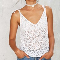 After Party Vintage Donna Lace Top