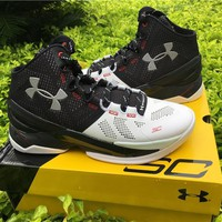 Under Armour Curry 2 Black White 1259007-652 Basketball shoes