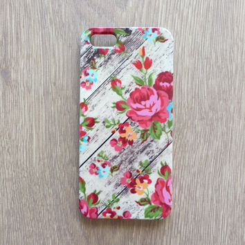 Floral roses wood iphone 6 case / iphone 6 plus case / Samsung galaxy S6 case / Samsung galaxy S5 case // iphone 4 5 5S 5C, S4 note 3 note 4