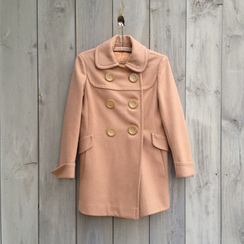 Vintage coat   Camel double breasted wool coat