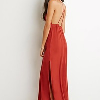 Caged Side-Slit Maxi Dress
