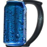 GoPong The Can Grip - Instantly Turn Your Can Into a Mug Handle, Set of 5, 12-Ounce (Black)
