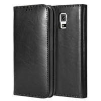 iVAPO Luxury Genuine Leather Business Series Stand Function Wallet Design Protective Case for Samsung Galaxy Note 3 (MM419) (Black)