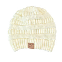 Comfort Me Knit Beanie in Ivory